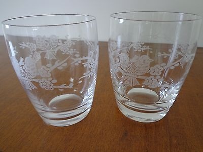 Crystal Water Glasses Vintage From About 1960