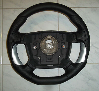 Ford BA BF Falcon FPV GT-P chunky perforated  leather/silver steering wheel.NEW
