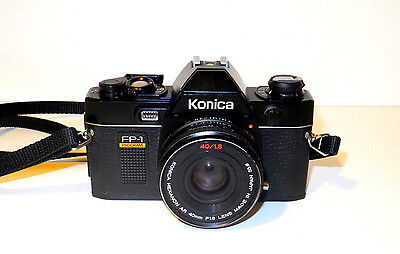 Konica FP-1 Program Anno/Year 1981 + Hexanon AR f1.8/40mm Made in Japan EXC+++