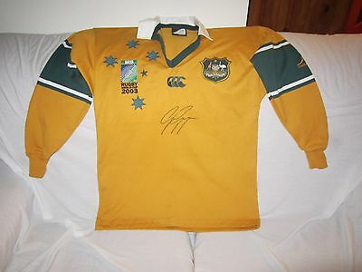 Wallabies 2003 World Cup Jersey Gregan Signed Size Small