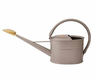 Haws Slimcan 5L Gauge Steel Galvanised Metal Garden Watering Can + Brass Rose