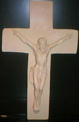 Latex Craft Mould For Jesus on Cross Plaque Reusable Art & Crafts Hobby