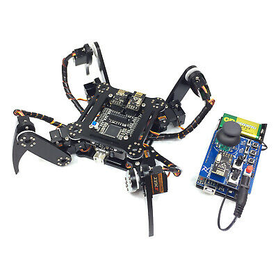 Quadruped Robot Kit for Arduino 2.4G Wireless PC/Android app Wifi tutorial code