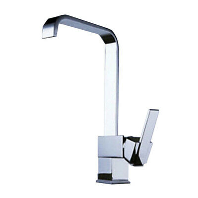 Modern Square Victoria Chrome Kitchen Sink / Bathroom Basin Mixer Tap V9L6