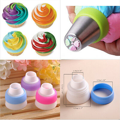 Icing Piping Russian Nozzles Bags Cream Converter Coupler Cake Decorating Tool L