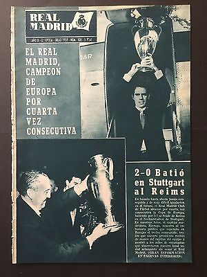 1959 European Cup.Final. Real Madrid,2 - Stade Reims, 0. official magazine