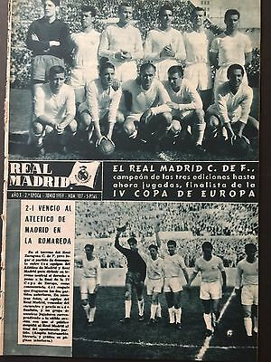 1959 European Cup.Semifinals. Real Madrid,2 - At. Madrid, 1. official magazine