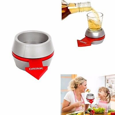 Spin The Shot Glass Spinner For Adult Party Drinking Game & Kids Anorexia Relief