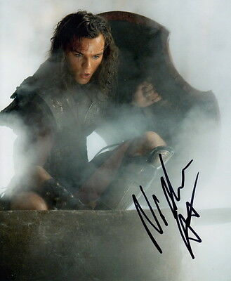 NICHOLAS HOULT ~ CLASH OF THE TITANS ~ AUTOGRAPHED PHOTO 10x8 COA