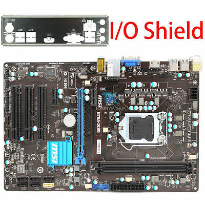 MSI B75A-IE35 Genuine Intel Motherboard CPU i7 i5 i3 LGA 1155 DDR3 I/O Shield