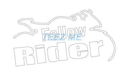 FELLOW RIDER Cut Vinyl Decal Sticker for Motorbike, Motorcycle, BMW, HYOSUNG