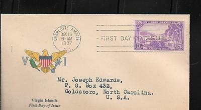 802 FDC 3c VIRGIN ISLANDS UNKNOWN CACHET (4)