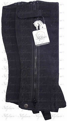 Stylian-Brand New Washable Amara Suede Horse Riding Half Chaps