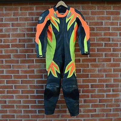 Frank Thomas Motorcycle Full Leather Racing Suit Biker Protection UK 40 EU 50