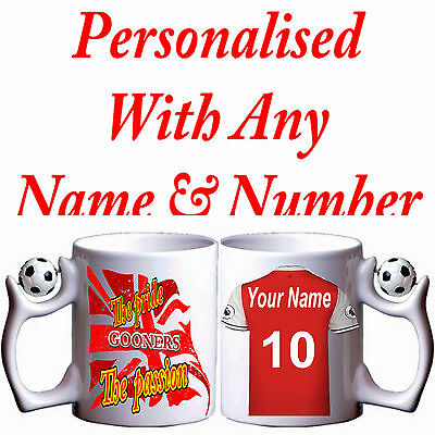 Personalised  Arsenal Fc Inspired Pride & Passion  Football Mug Great Gift