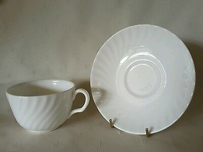 Minton ' White Fife ' Duo Tea Cup & Saucer . Exc. Condition . BERWICK VIC