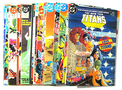 Dc Comics The New Teen Titans 1985 1986 1987 Lot X20 Books Nightwing High Grade!