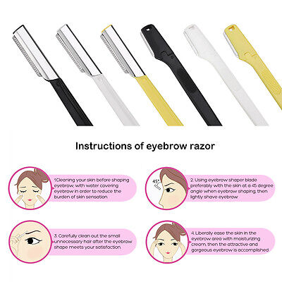 6pcs Women Face & Eyebrow Hair Removal Safety Razor Trimmer Shaper Shaver Tools