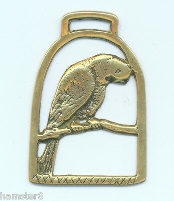 PARROT vintage horse brass (5473)                    (I always combine shipping)