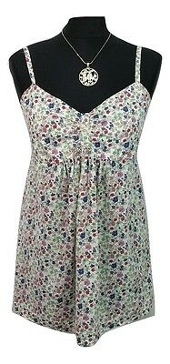 NEXT Maternity Top Size 8 Multicoloured Floral 100% Cotton Summer Party Holiday