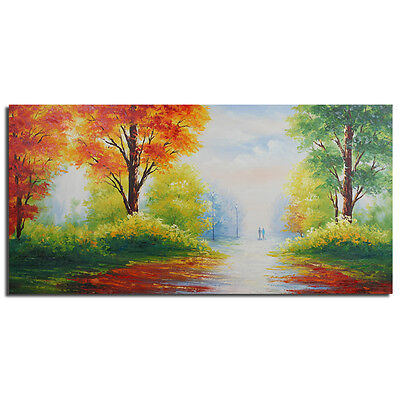 Modern Oil Painting Handmade Wall Art Decor Decorative Painting Framed Landscape