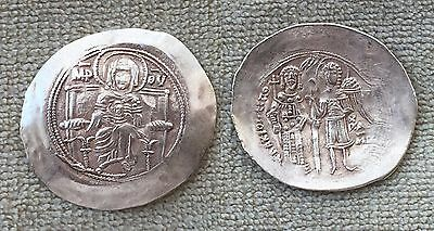Gold coin – Isaac II, Hyperpyron, Scyphate, Constantinople (1185-1195)