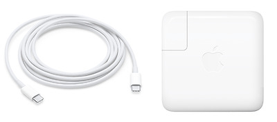 Apple 61W USB-C Macbook Pro 2016 2017 Power Adapter Charger + Bonus Cable, NEW!