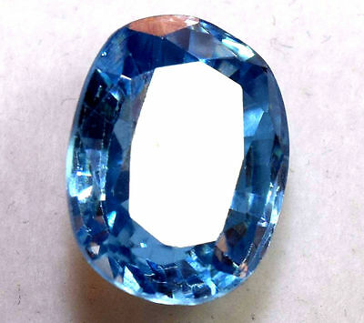 Earth Mined Blue Untreated Zircon Gemstone From Ural Mountains Russia 7.20CT