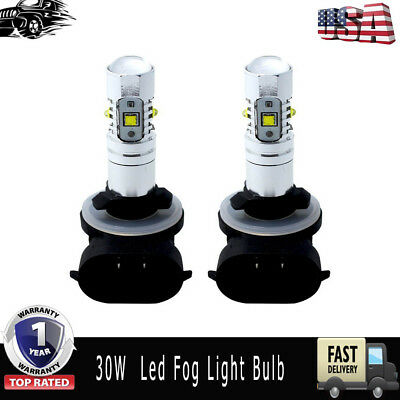 80W LEDs Super White Headlights Bulbs Lamps 2 Pack Fits Polaris Sportsman/Ranger
