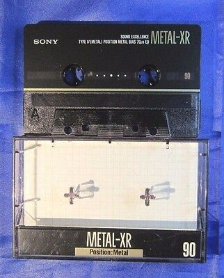 Sony Metal Xr 90 Cassette Tape Mc Musicassetta Cassetta Mint Condition