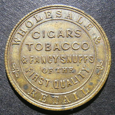 Silberberg tobacconist London - Unofficial farthing token - reeded W.2800