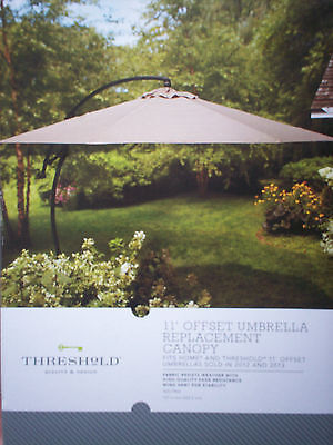 Target Home Threshold 11' OFFSET UMBRELLA REPLACEMENT CANOPY **New In Box**