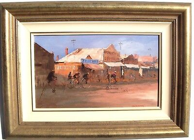 "Colin Parker - Original Oil "" Penny Farthing Race Castlemaine, Vic ""  Signed"
