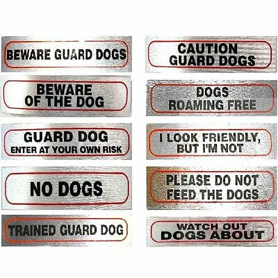 Dog Signs for Dog Owners stick on 17cm x 4cm