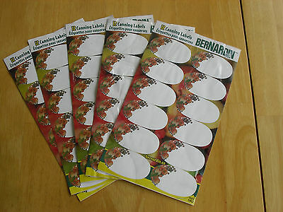 Bernardin canning food lot 60 labels adhere to plastic glass metal restaurant