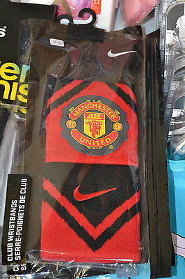 Man United Sweatbands - Red & Black Nike Sport Wristbands - Ideal Football Gift