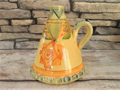 Vallauris Area Pottery Flagon Provence Hand Painted Hand Made French Tableware