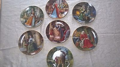 Royal Doulton Henry VIII and his wives set of 7 collectors' edition plates