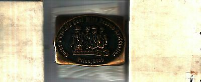 Really Nice Set Of 3 Rocky Mt.  Mine Rescue Contest Coal Mining Belt Buckles