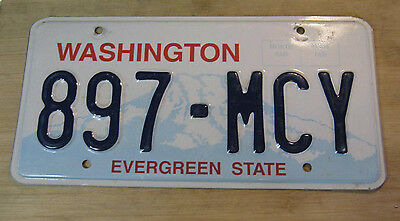 1999 Washington License Plate Expired 897 Mcy