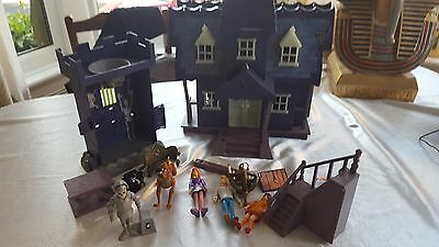 Scooby Doo Mystery Haunted Mansion House Playset Kids Figures & Tormented tower