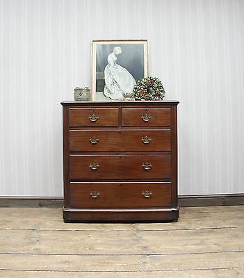 Antique Mahogany Chest of Drawers Bedroom Storage