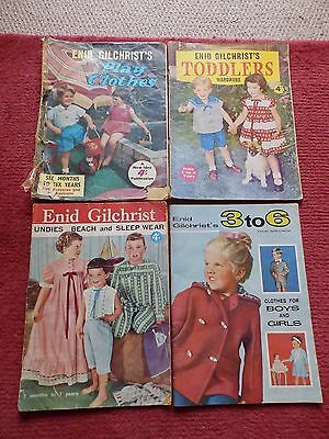 4 Enid Gilchrist's sewing pattern magazines childrens clothes - vintage