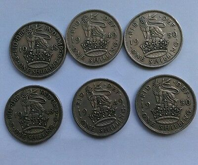 silver shilling coins