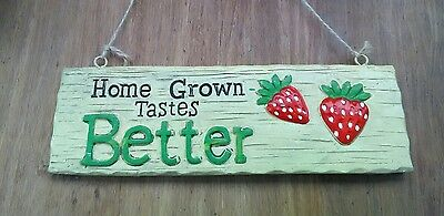 Garden wall gardening strawberry wall plaque. Outdoor ornament. NEW