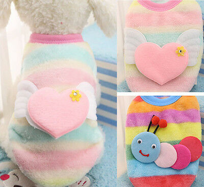 Warm Soft Small Dog Clothes Sweater Cute Puppy Pet Cat Coat Shirt Apparel New