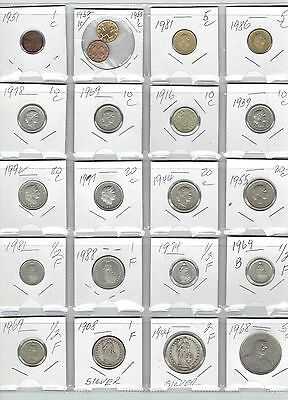 SWITZERLAND Lot of 20 Different Coins - 2 Silver Coins