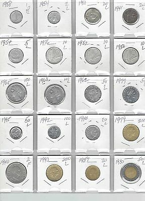 ITALY Lot of 20 Different Coins