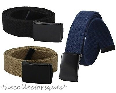 "New 1"" width JAEGER CUSTOMS FlipTop Buckle Canvas Military Web Belt Toddler Kids"