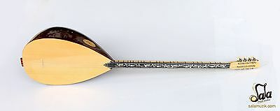 Turkish Quality Long Neck Walnut Baglama Saz For Sale Asl-302G